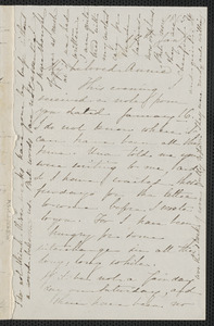 Sophia Hawthorne autograph letter signed to Annie Adams Fields, [Concord], 19 January 1865