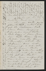 Sophia Hawthorne autograph letter signed to Annie Adams Fields, [Concord], 16 March [1865]