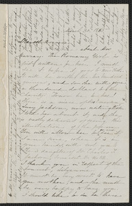 Sophia Hawthorne autograph letter signed to Annie Adams Fields, [Concord], 30 March 1865