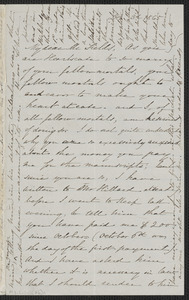 Sophia Hawthorne autograph letter signed to James Thomas Fields, [Concord], 3 December 1865