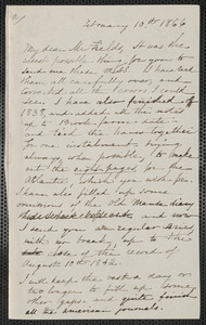 Sophia Hawthorne autograph letter signed to James Thomas Fields, [Concord], 10 February 1866