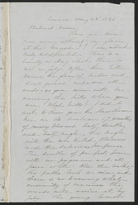 Sophia Hawthorne autograph letter signed to Annie Adams Fields, [Concord], 28 May 1866