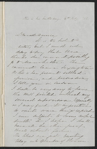 Sophia Hawthorne autograph letter signed to Annie Adams Fields, [Concord], 4 July 1866