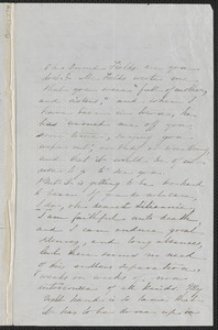 Sophia Hawthorne autograph letter signed to Annie Adams Fields, [Concord], 24 November 1866