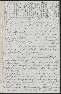 Sophia Hawthorne autograph letter signed to Annie Adams Fields, [Concord], 16 October 1867
