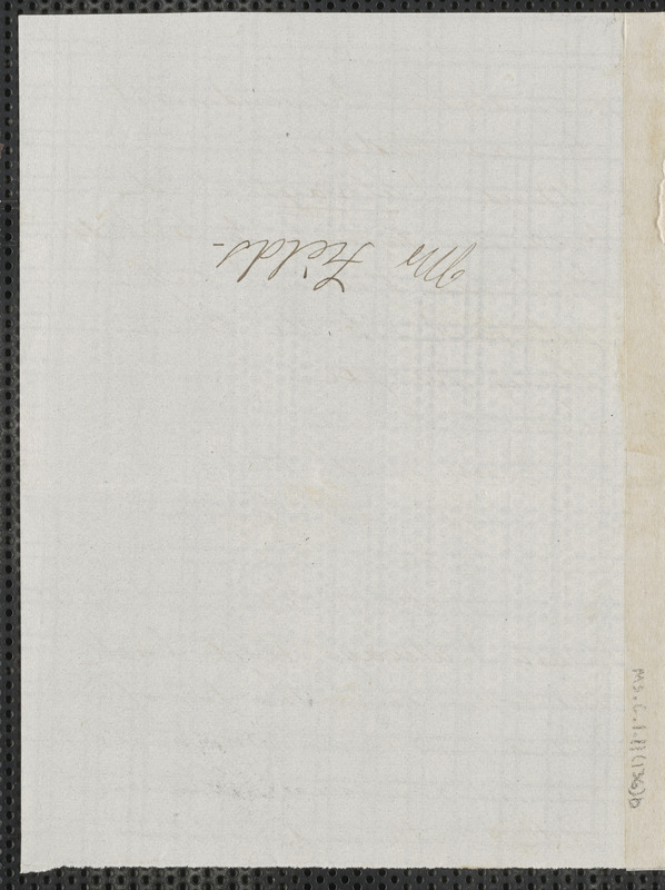 Sophia Hawthorne autograph note signed to James Thomas Fields, [Concord], 14 July 1868