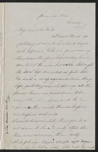 Rose Hawthorne Lathrop autograph letter signed to Annie Adams Fields with postcript from Sophia Hawthorne postscript to Annie Adams Fields, Concord, 29 June 1862