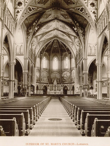Interior of St. Mary's Church, Lawrence