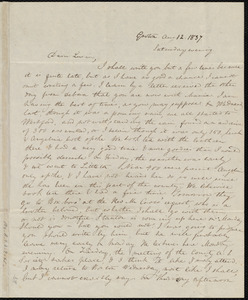 Letter from Anne Warren Weston, Groton, [Mass.], to Lucia Weston, Aug. 12, 1837, Saturday evening