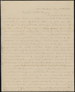 Letter from Deborah Weston, New Bedford, [Mass.], to Henry Grafton Chapman, March 11th, 1839