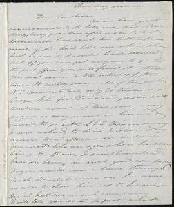 Letter from Deborah Weston to Caroline Weston, Thursday noon, [1847 May 28]