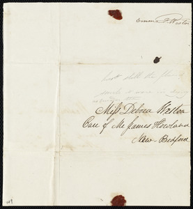 Fragment to Deborah Weston