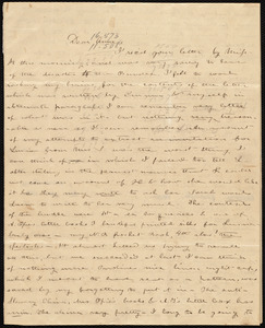 Letter from Deborah Weston to Anne Warren Weston, [1838?]