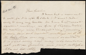 Incomplete letter from Deborah Weston to Lucia Weston