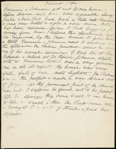 Extract of letter from Anne Warren Weston, [Weymouth, Mass.], [Dec. 4th, 1839 ]