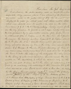 Letter from Anne Warren Weston, Sans Souci, New York, to Maria Weston Chapman, May 13, 1840