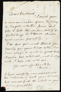 Letter from Lydia Maria Child to David Lee Child, [Feb.? 1844?]