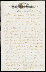 Incomplete letter to Lydia Maria Child, Dec. 25, 1873
