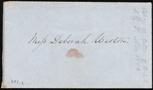 Draft of letter from Anne Warren Weston, Boston, to George Thompson, Nov. 25, 1850
