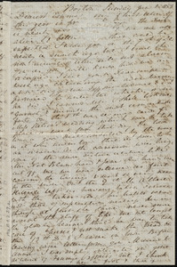 Letter from Anne Warren Weston, Boston, [Mass.], to Emma Forbes Weston, Sunday, Jan. 2, 1853