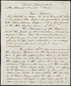 Letter from Anne Warren Weston, Boston, [Mass.], to Harriet Beecher Stowe, Jan. 17, 1853