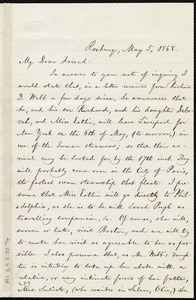 Letter from William Lloyd Garrison, Roxbury, [Mass.], to Anne Warren Weston, May 5, 1868