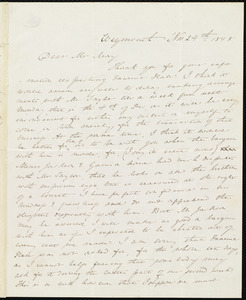 Letter from Anne Warren Weston, Weymouth, [Mass.], to Samuel J. May, Nov. 24th, 1848