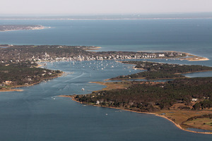 Aerial - Edgartown Harbor