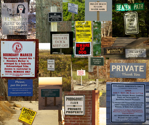 Access signs collage