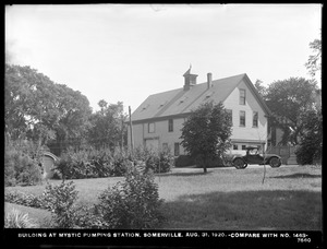 Distribution Department, Mystic Pumping Station, buildings at station (compare with No. 1463), Somerville, Mass., Aug. 31, 1920