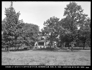 Distribution Department, Mystic Pumping Station, house at station (compare with No. 1464), Somerville, Mass., Aug. 31, 1920