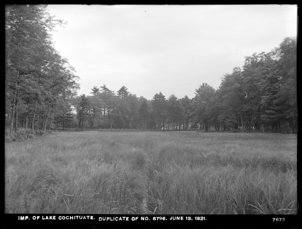 Sudbury Department, improvement of Lake Cochituate, open drain near county road (compare with No. 6796), Natick, Mass., Jun. 13, 1921