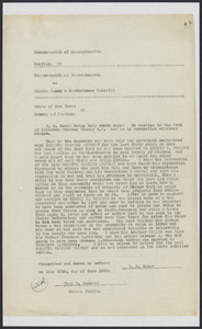 Sacco-Vanzetti Case Records, 1920-1928. Defense Papers. Exhibits, pages 62-71: Affidavits: I.N. Baker, Humphrey Courtney, L.R. Partridge, Virgil McClarie, C. Gilbert Lyon, Jerry Van Rifer, Gus Stanton, Henry Van Riper, Fary B. Beecher, Harriet M. Whitney, June 1922. Box 9, Folder 11, Harvard Law School Library, Historical & Special Collections
