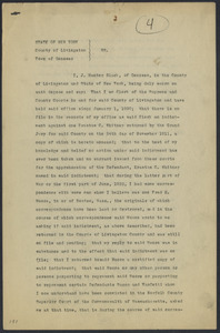 Sacco-Vanzetti Case Records, 1920-1928. Defense Papers. Affidavit/Deposition of Black, J. Hunter, 1922. Box 9, Folder 24, Harvard Law School Library, Historical & Special Collections