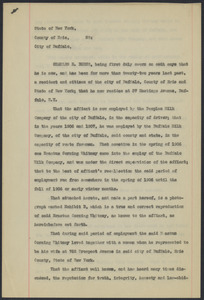 Sacco-Vanzetti Case Records, 1920-1928. Defense Papers. Affidavit/Deposition of Burns, Charles R., July 1, 1922. Box 9, Folder 25, Harvard Law School Library, Historical & Special Collections