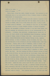 Sacco-Vanzetti Case Records, 1920-1928. Defense Papers. Affidavit/Deposition of Doyle, Thomas, June 17, 1922. Box 9, Folder 29, Harvard Law School Library, Historical & Special Collections