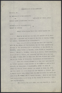 Sacco-Vanzetti Case Records, 1920-1928. Defense Papers. Affidavit/Deposition of Doyle, Thomas, July 20, 1922. Box 9, Folder 31, Harvard Law School Library, Historical & Special Collections
