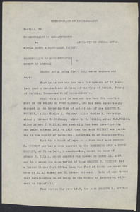 Sacco-Vanzetti Case Records, 1920-1928. Defense Papers. Affidavit/Deposition of Doyle, Thomas (frag.), n.d. Box 9, Folder 36, Harvard Law School Library, Historical & Special Collections