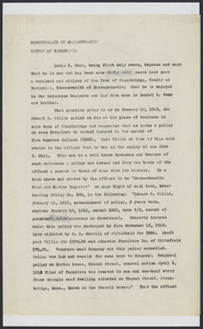 Sacco-Vanzetti Case Records, 1920-1928. Defense Papers. Affidavit/Deposition of Fenn, Louis H., July 14, 1922. Box 9, Folder 39, Harvard Law School Library, Historical & Special Collections