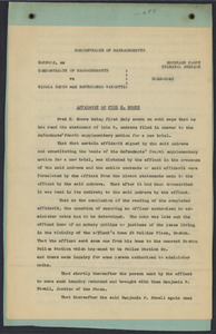 Sacco-Vanzetti Case Records, 1920-1928. Defense Papers. Affidavit/Deposition of Moore, Fred H., October, 1923. Box 9, Folder 51, Harvard Law School Library, Historical & Special Collections