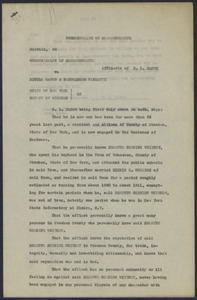 Sacco-Vanzetti Case Records, 1920-1928. Defense Papers. Affidavit/Deposition of Steuben County citizens, June 1922. Box 9, Folder 56, Harvard Law School Library, Historical & Special Collections