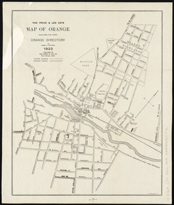 The Price & Lee Co's map of Orange