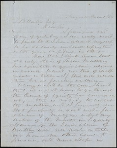 F. C. Barber, Augusta, Ga., autograph letter signed to Ziba B. Oakes, 1 March 1854