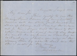 F. C. Barber, Augusta, Ga., autograph letter signed to [Ziba B. Oakes], 5 January 1854