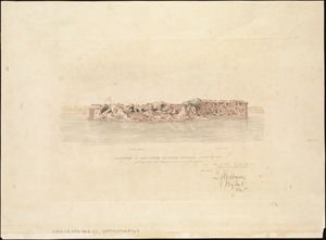 Appearance of Fort Sumter on Sunday afternoon, August 23d, 1863