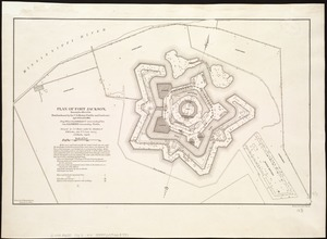 Plan of Fort Jackson, showing the effect of the bombardment by the U.S. mortar flotilla and gunboats, April 18th to 24th 1862