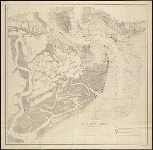 Charleston Harbor and its approaches showing the positions of the Rebel batteries