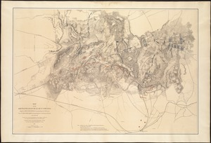 Map of the battlefield of Bull Run, Virginia. Brig. Gen. Irvin McDowell commanding the U.S. forces, Gen. [P.] G.T. Beauregard commanding the Confederate forces, July 21st 1861