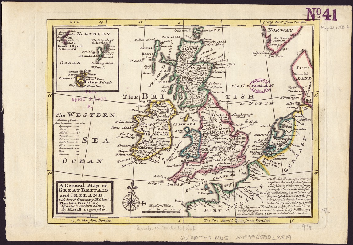 Map Of Holland And Germany.A General Map Of Great Britain And Ireland Norman B Leventhal Map