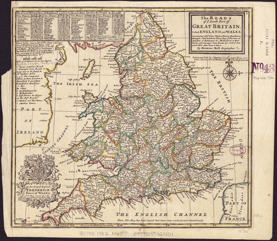 The roads of ye south part of Great Britain, called England and Wales